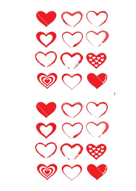 Heart Shape Template 22