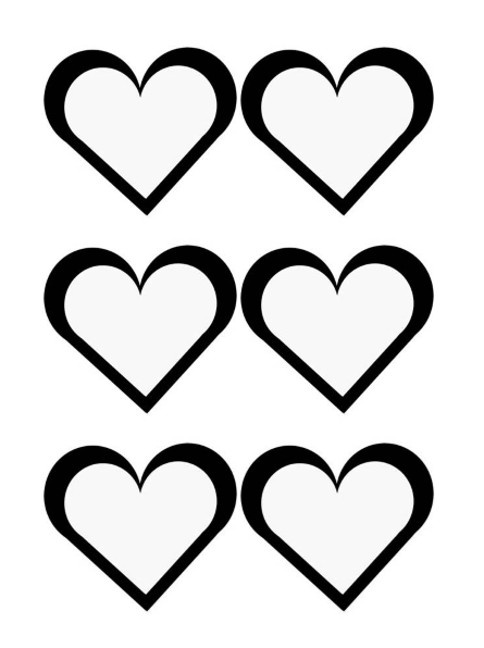 Heart Shape Template 29