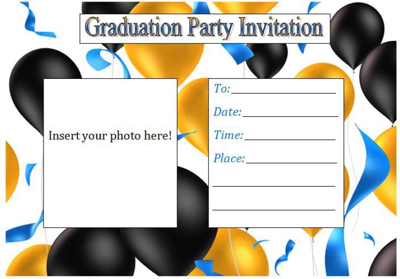 Graduation Party Invitation Template 06