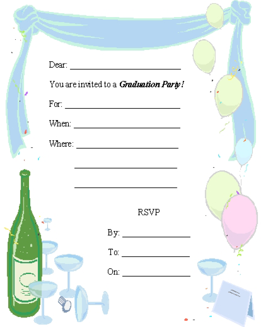 Graduation Party Invitation Template 15