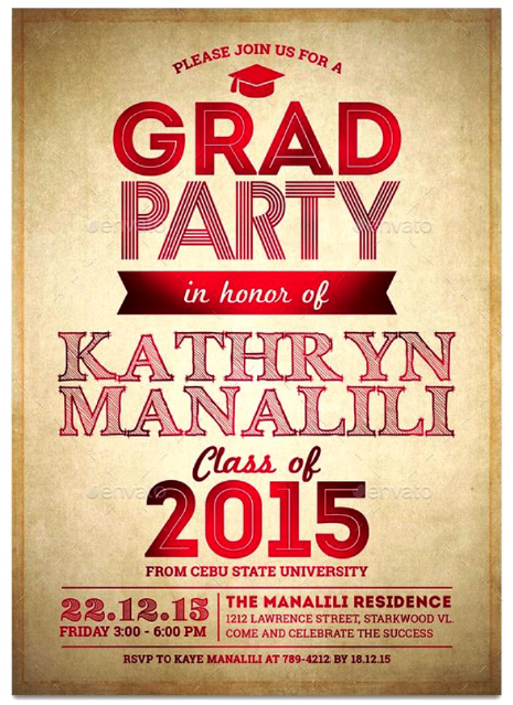 Graduation Party Invitation Template 18