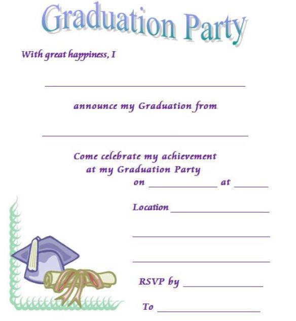 Graduation Party Invitation Template 19