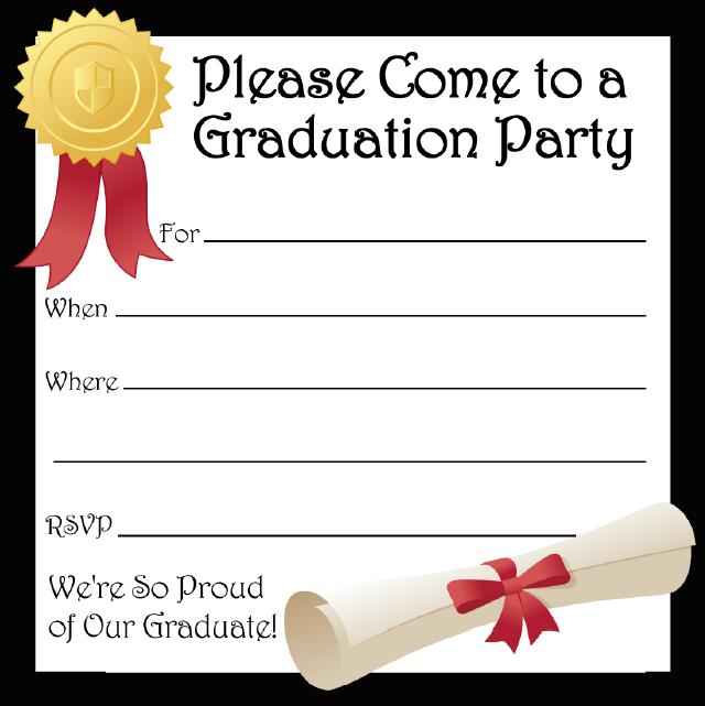 Graduation Party Invitation Template 02