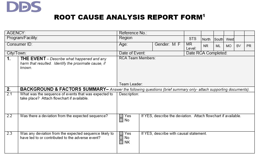 Root Cause Analysis Template 02