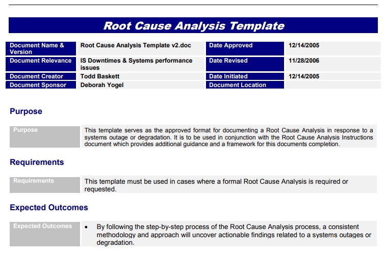 Root Cause Analysis Template 05