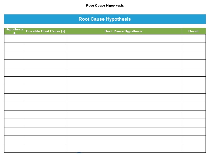 Root Cause Analysis Template 12