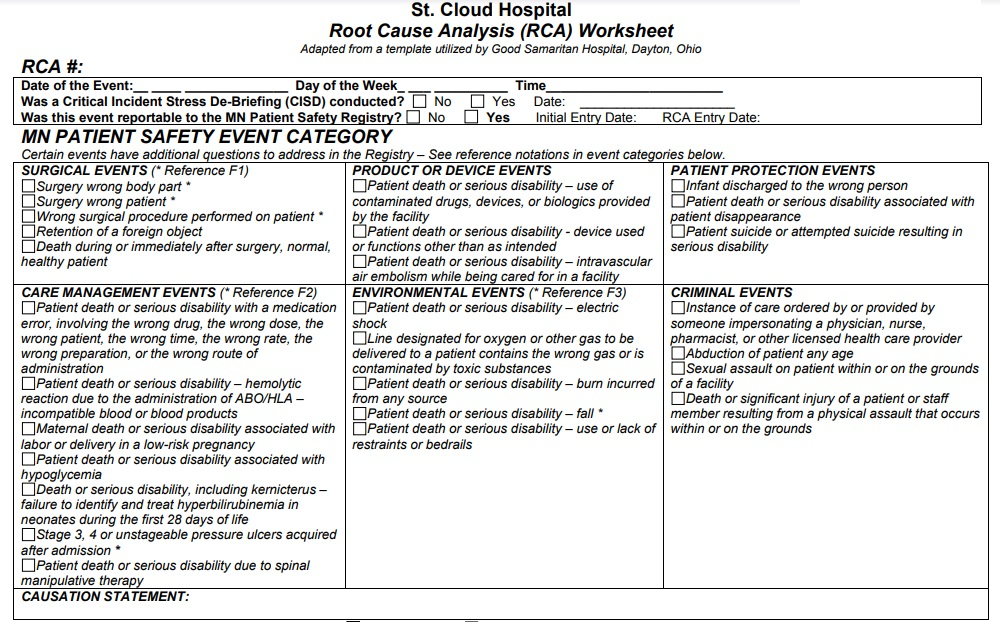Root Cause Analysis Template 19
