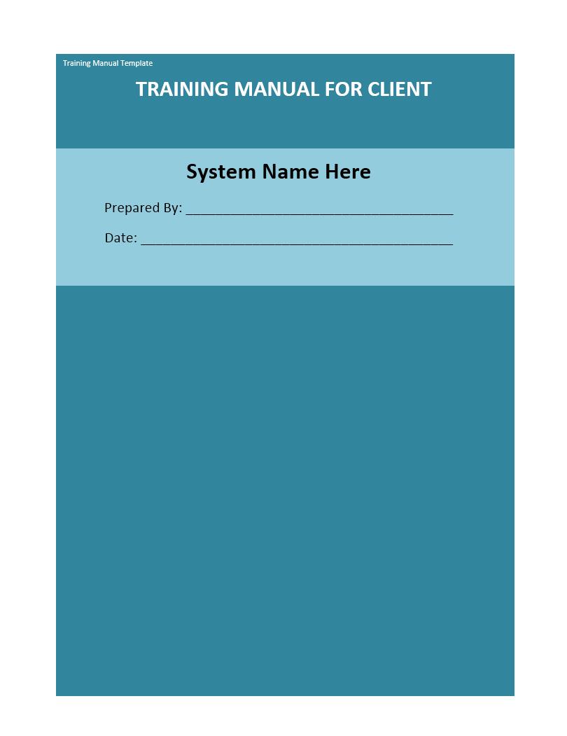 Training Manual Template 04