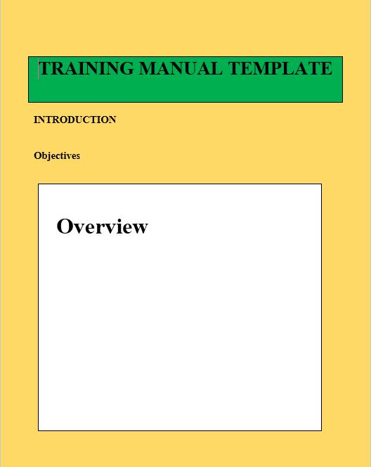 Training Manual Template 07