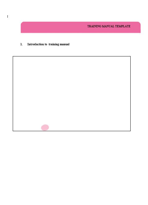 Training Manual Template 10