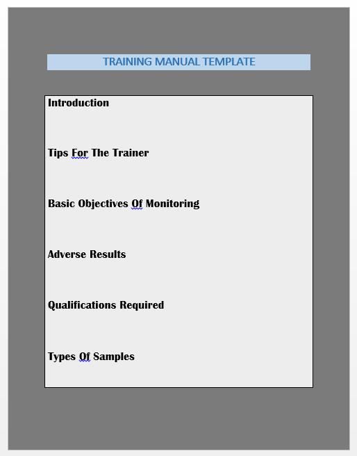 Training Manual Template 13