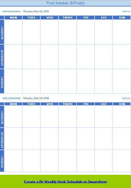 Weekly Calendar Template 01